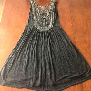 3/$25 Just Ginger boho Jersey Dress with Lace back